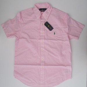 Ralph Lauren SS Seersucker Button Down Shirt NEW